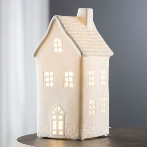 Belleek Living Town House Shaped Luminaire Lamp (1)